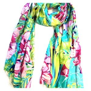 Lilly Pulitzer floral silk/cashmere Scarf